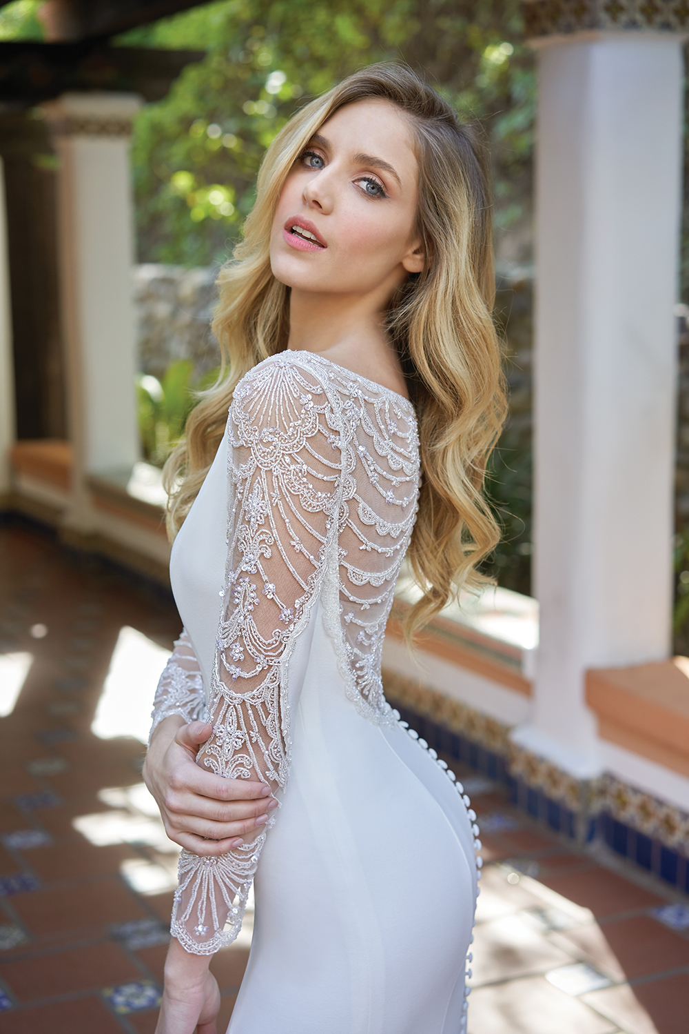 Jasmine Bridal long sleeve wedding dress