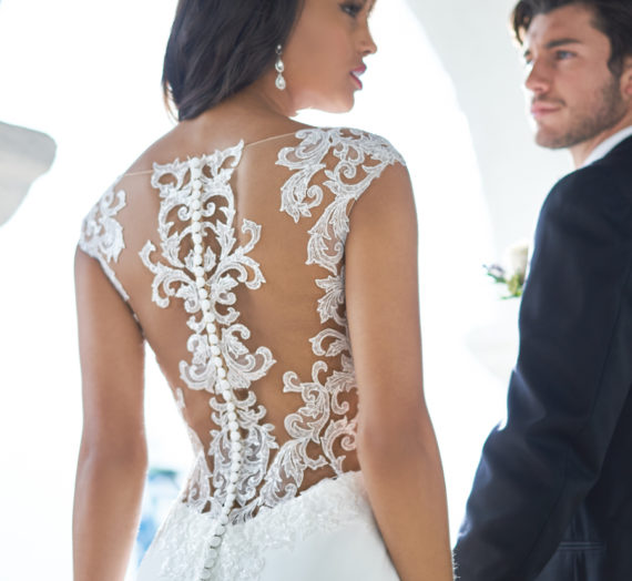 The Ever Popular Illusion Wedding Gown