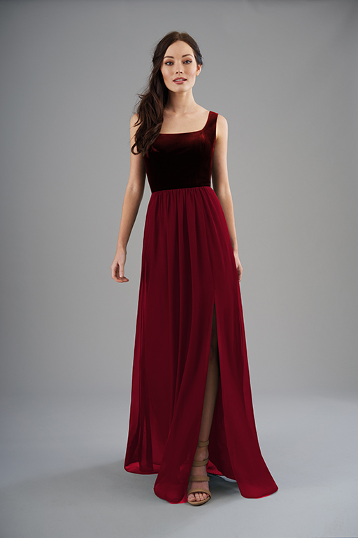 Mix and Match Velvet Bridesmaids Dresses