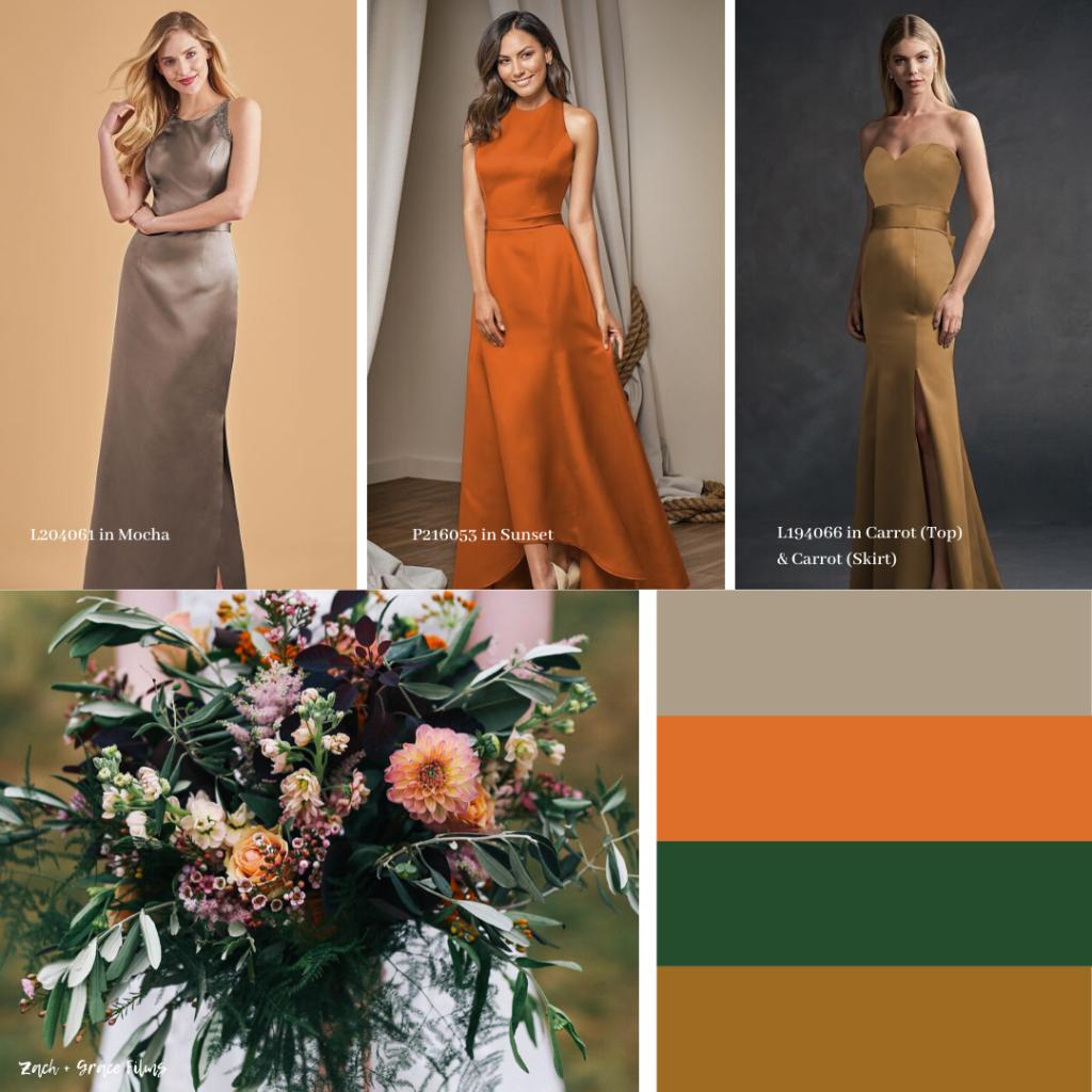 Fall Bridesmaid Dresses- Rusty Orange
