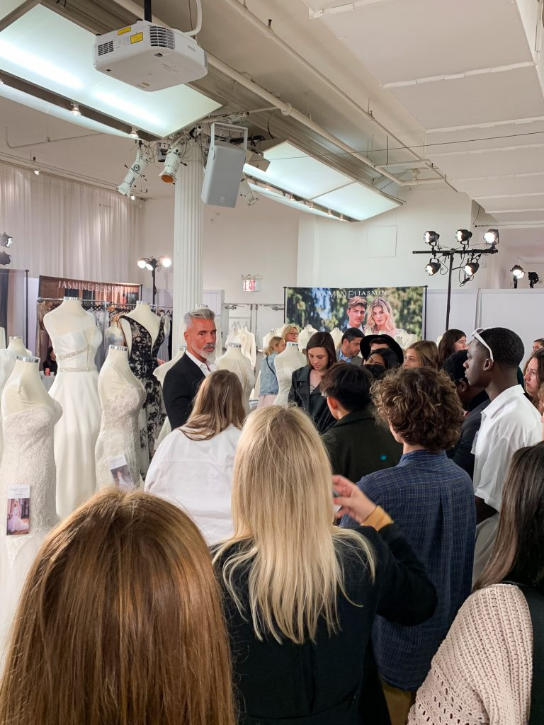 MYBFW- Jose Dias Talks Bridal Gowns with Design Students