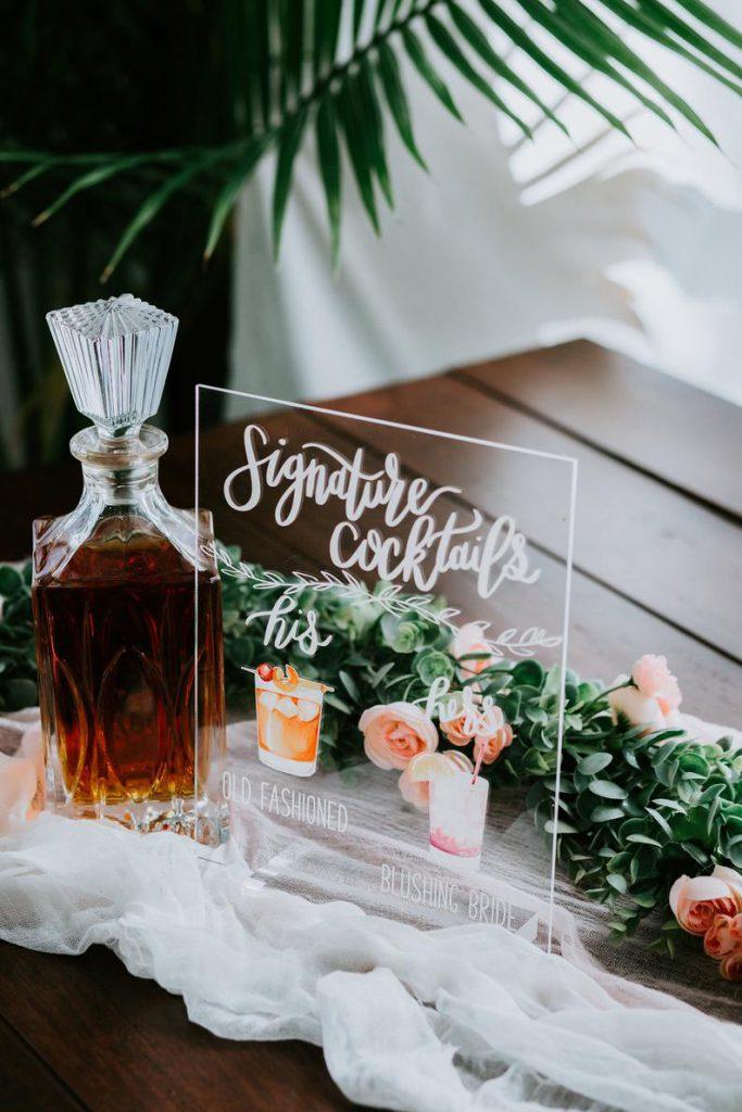 Acrylic Signage Wedding Details