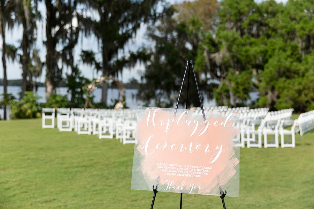 2020 Wedding Details- Acrylic Signage