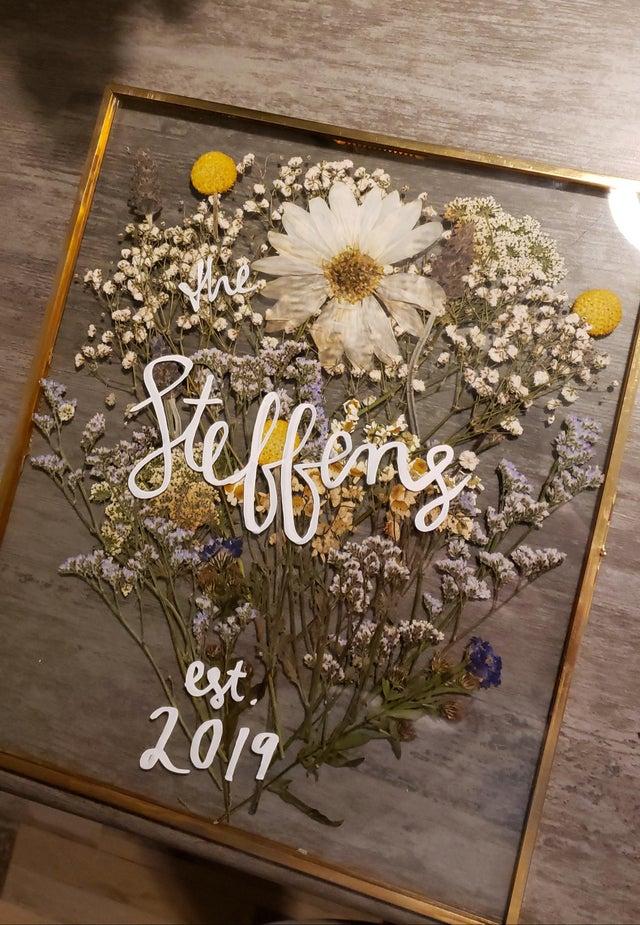 Bouquet Preservation Wedding Details