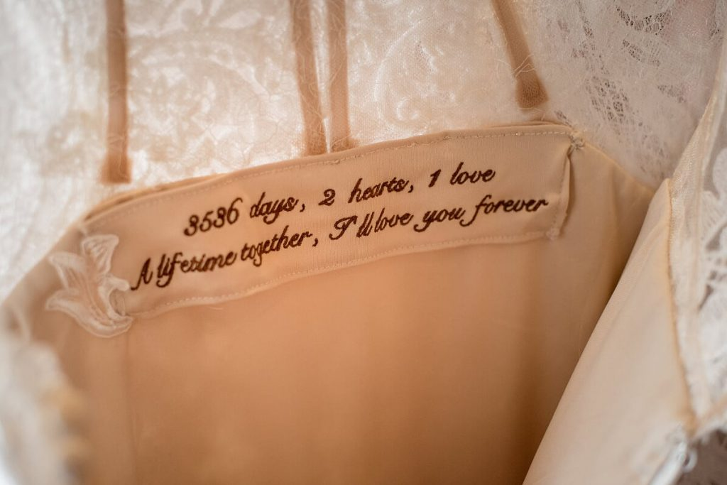 Embroidery- Ways to Personalize Your Wedding