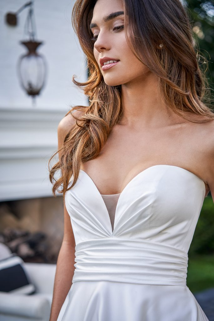Wedding Dress Necklines- Column/Rectangle