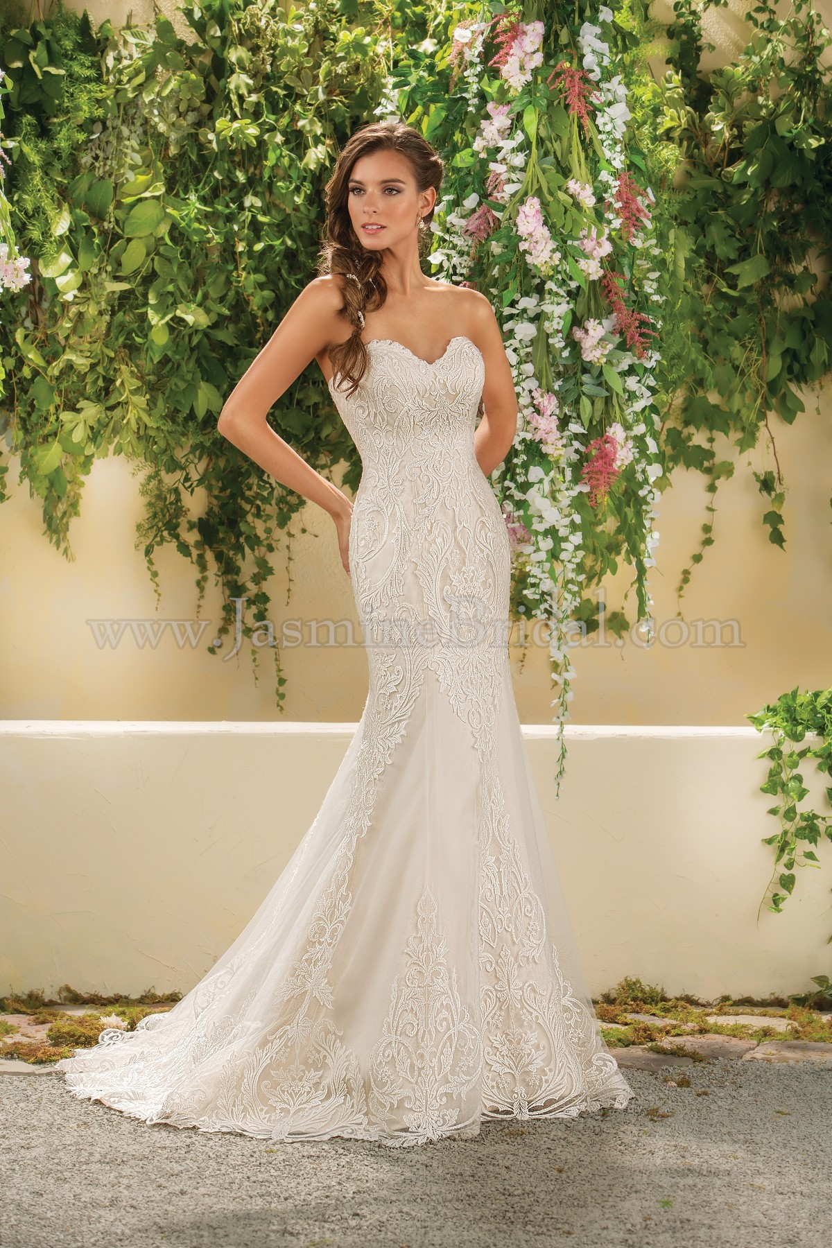 F181014 sweetheart strapless lace tulle wedding dress home bridal collection f181014 junglespirit Gallery