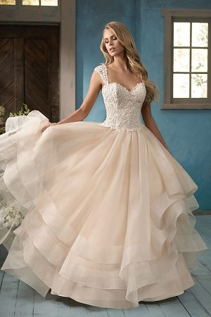 4ac5494ec733 dressimg. F191063. Princess look inspired organza bridal ball gown with  beaded Embroidery Lace and flattering ...