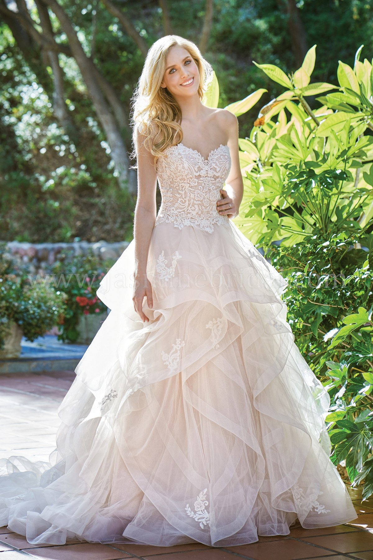 F201068 Strapless Sweetheart Netting Tulle & Lace Ball Gown Wedding ...