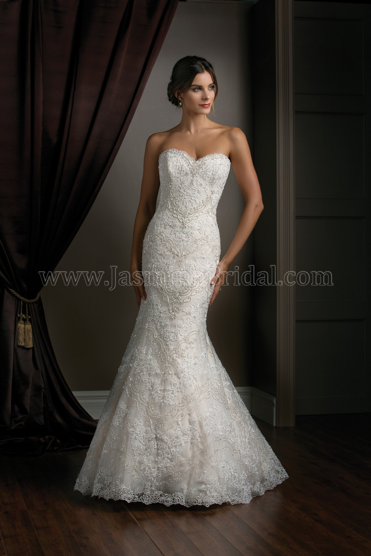 T172017 sweetheart strapless lace tulle wedding dress ombrellifo Images