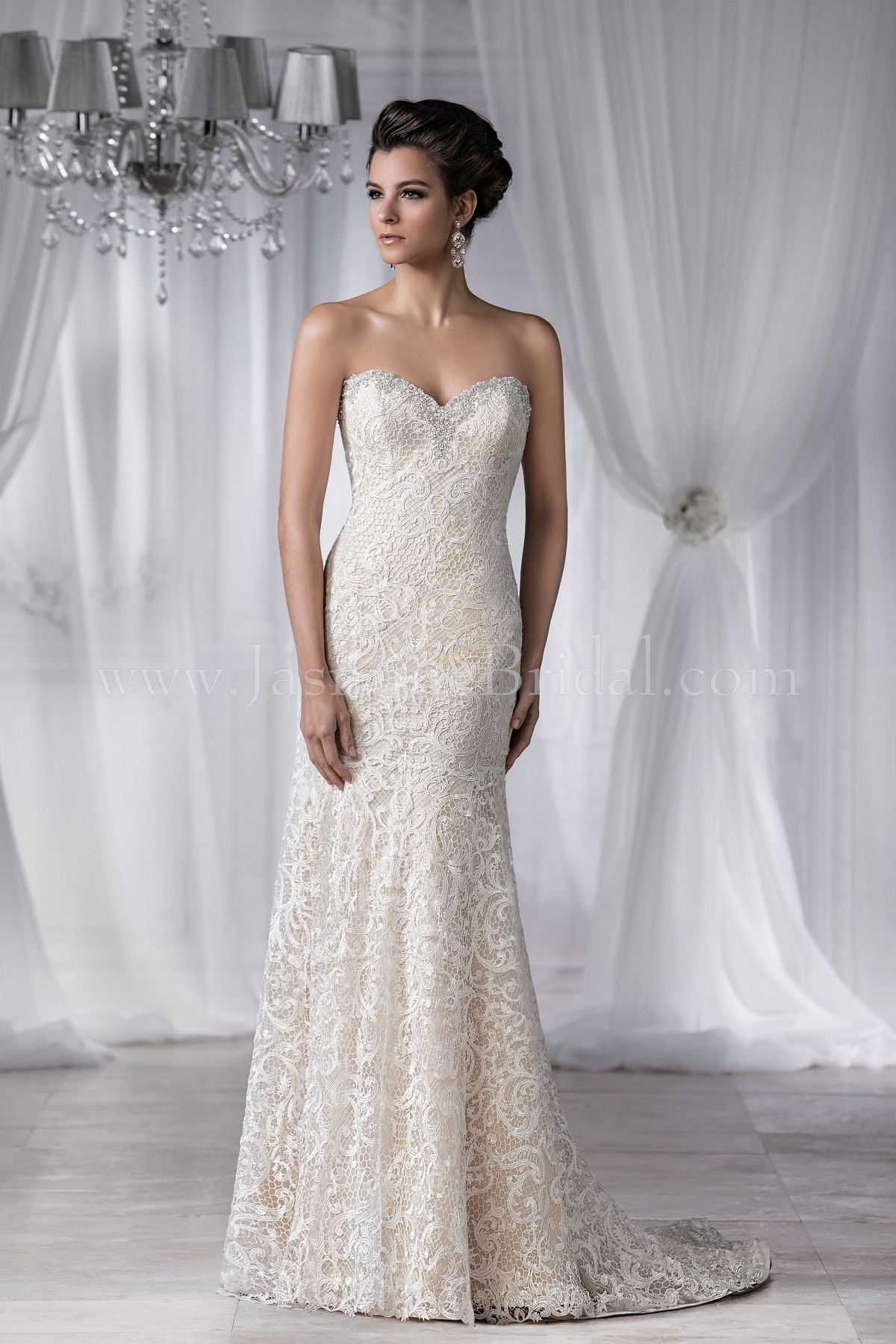 T182052 sweetheart strapless lace wedding dress junglespirit Gallery