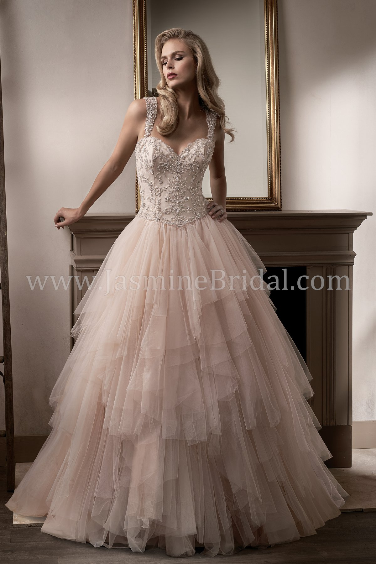 T192017 Sweetheart Neckline Tulle & Organza Ball Gown Wedding Dress ...