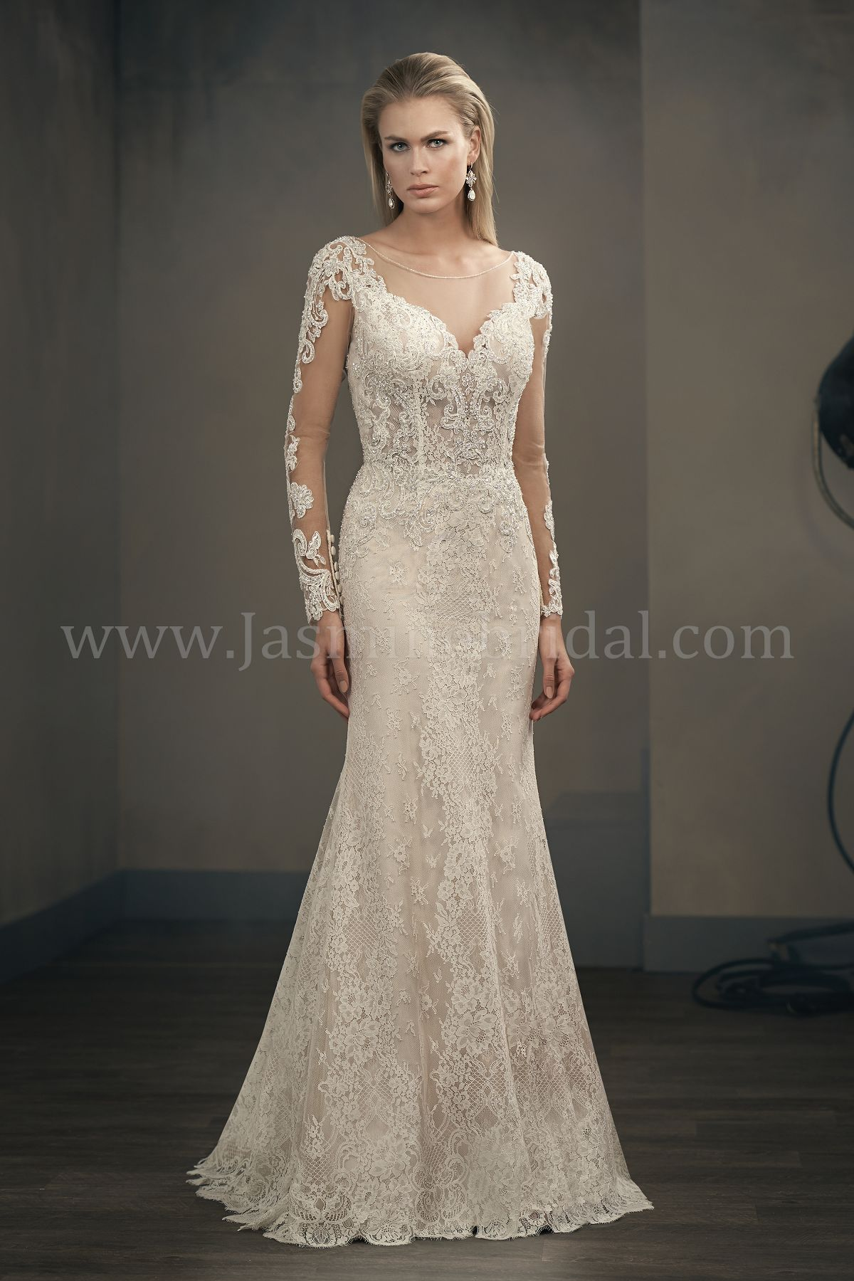T192052 illusion bodice illusion neckline lace wedding for Wedding dress with illusion sleeves