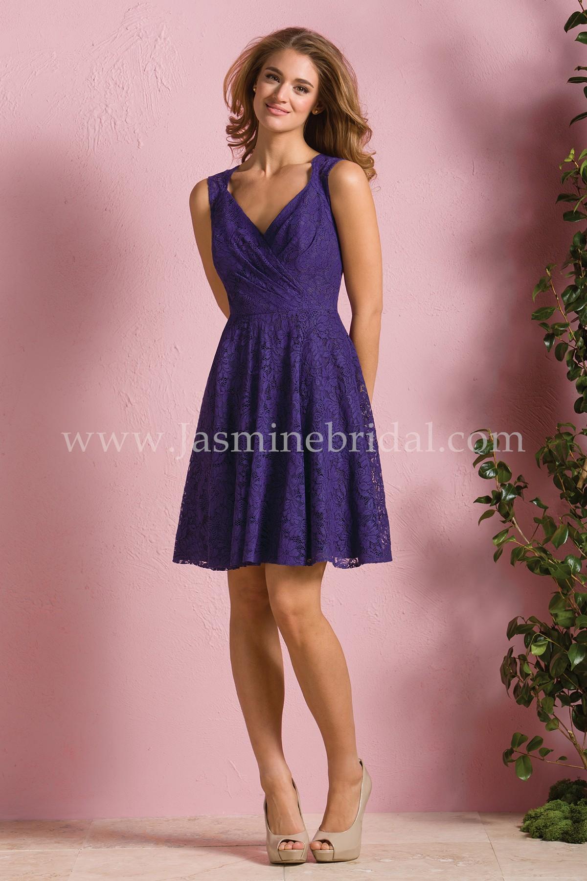 B173064 knee length v neck lace bridesmaid dress ombrellifo Images