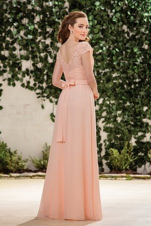 5c74af7422d B183059 Long Sweetheart Neckline Poly Chiffon Bridesmaid Dress with Lace Top