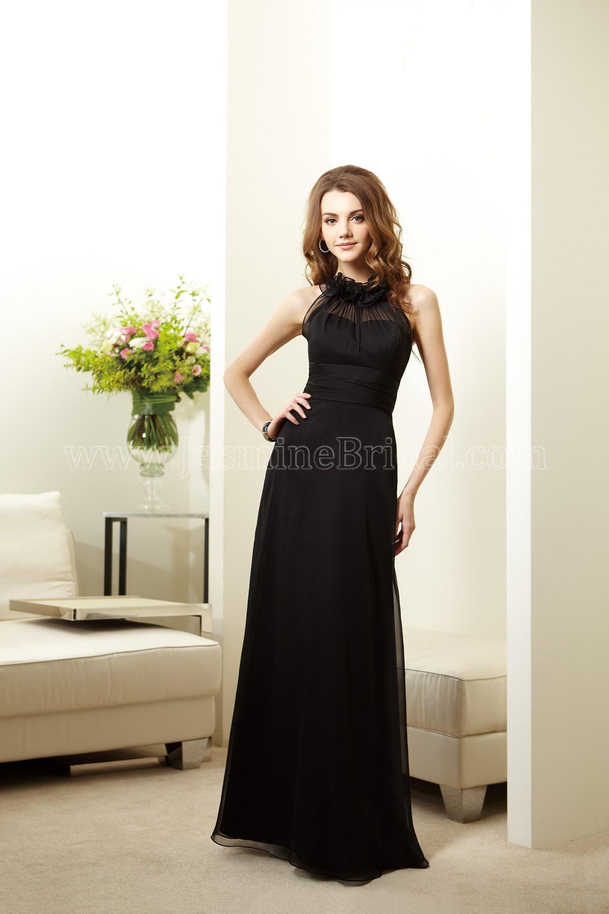 03b2cea0278 L144017 Long High Neck Belsoie Tiffany Chiffon Bridesmaid ...
