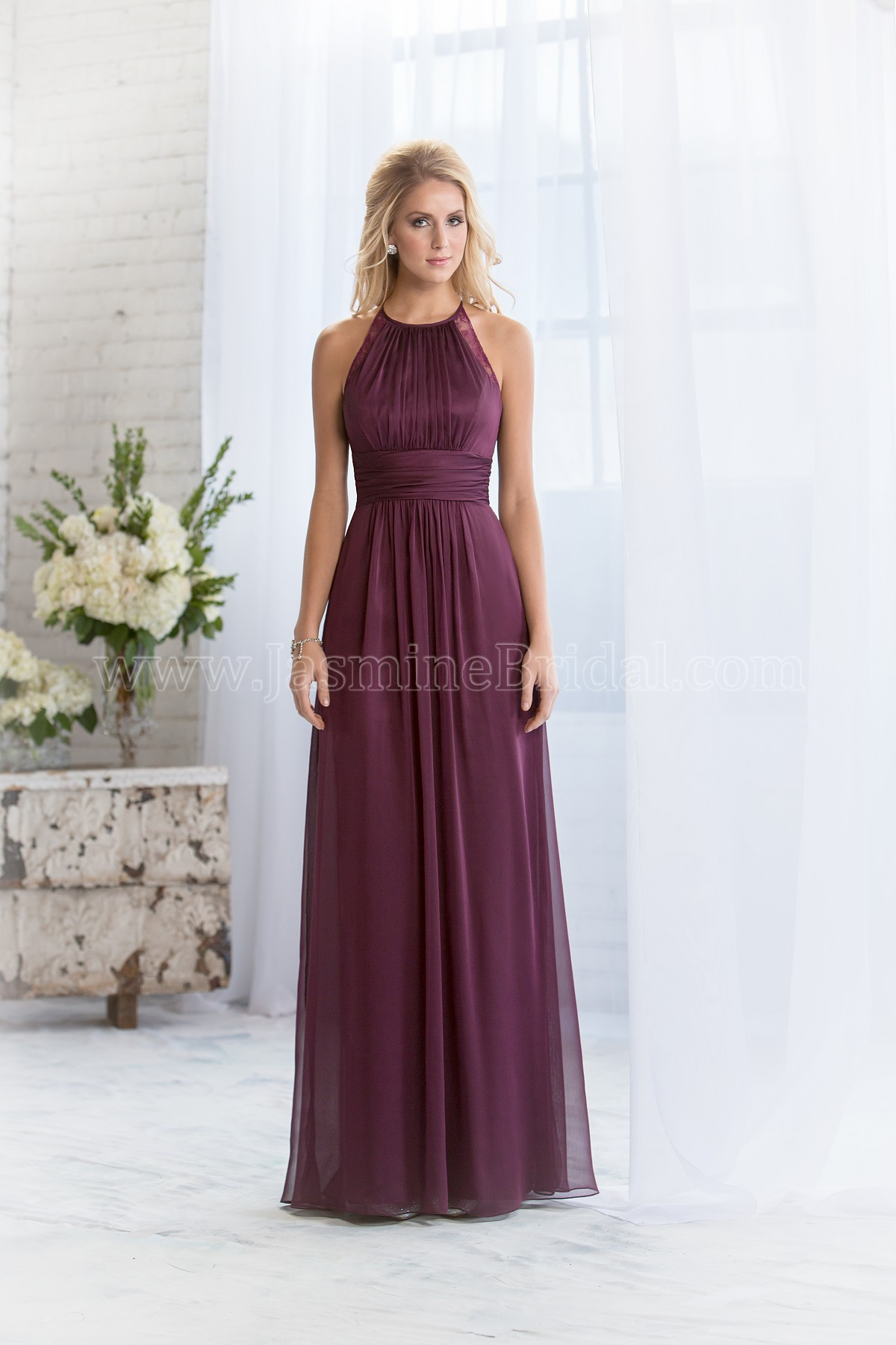 One Strap Purple Bridesmaid Dresses