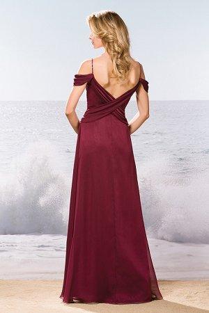 64f6e1215d4 L174057 Long V-neck Belsoie Tiffany Chiffon Bridesmaid Dress