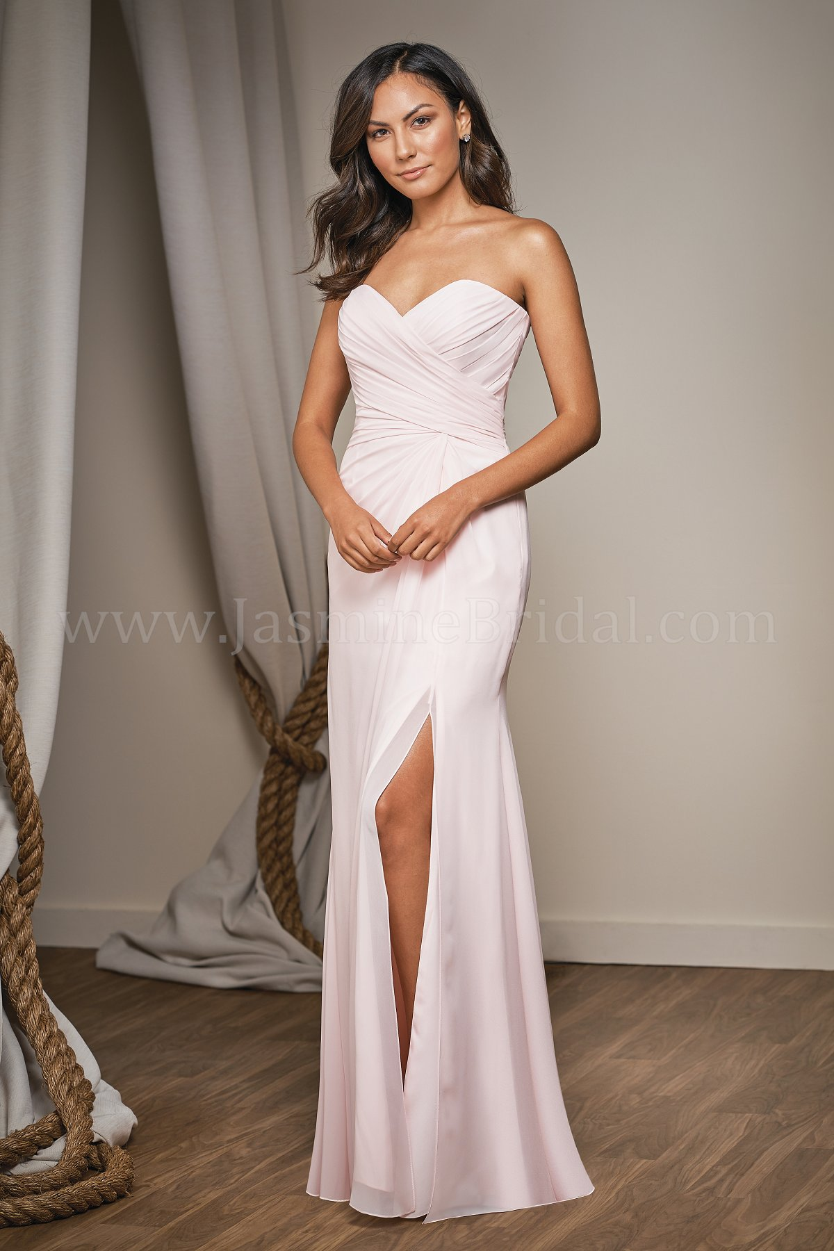 Long Strapless Bridesmaid Dresses