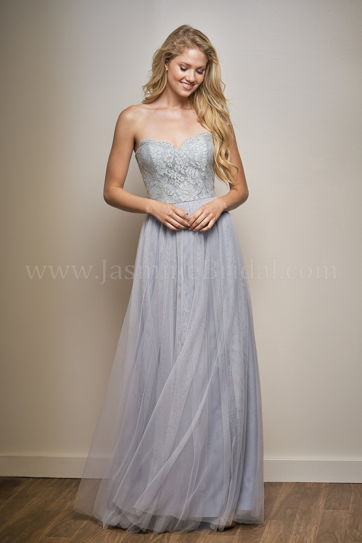Jasmine bridal designer wedding dresses dressimg l204006 simple strapless sweetheart neckline bridesmaid dress ombrellifo Images