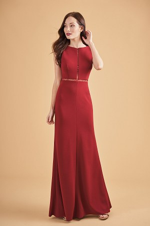 L204064 Beautiful Stretch Crepe Bridesmaid Dress With
