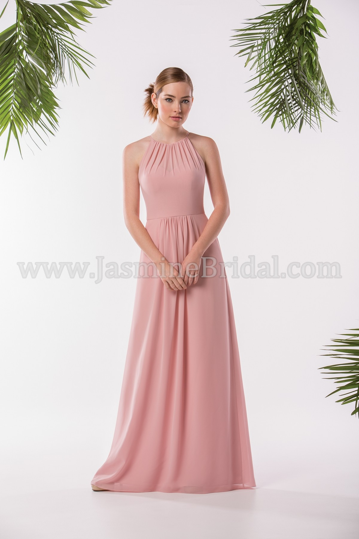 db0b1b0b59b3 P186005 Long Jewel Neckline Georgette Bridesmaid Dress