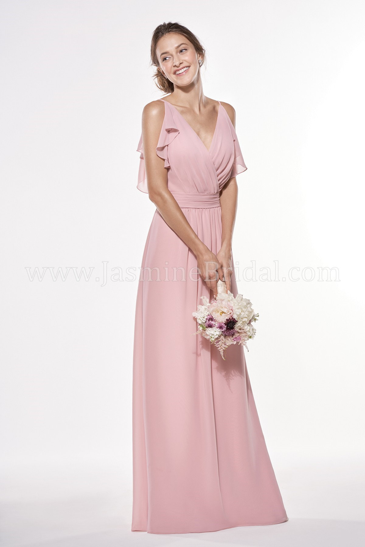 P196001 long v neck georgette bridesmaid dress ombrellifo Image collections