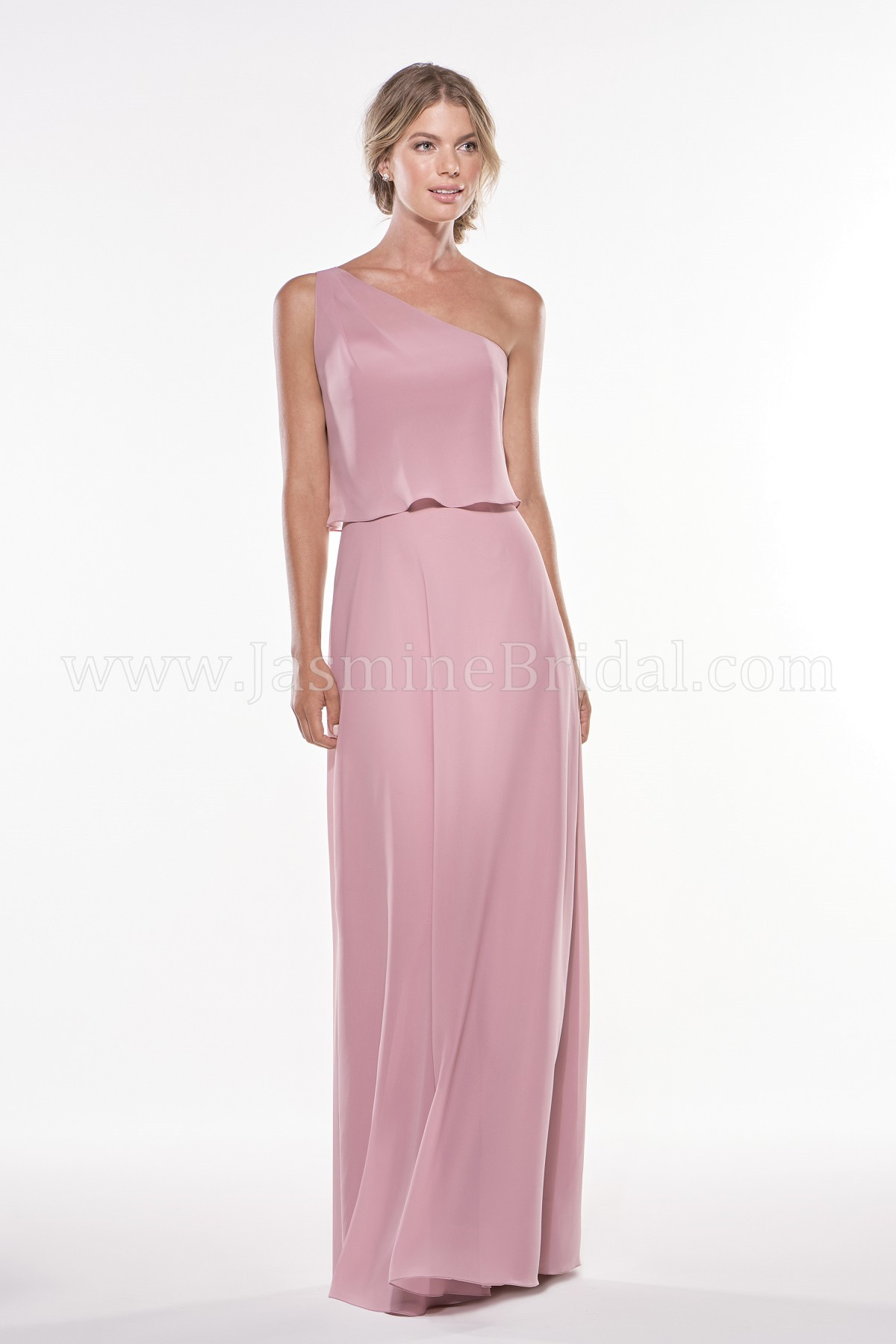 4f386fe83d81 P196002 Long One-Shoulder Georgette Bridesmaid Dress