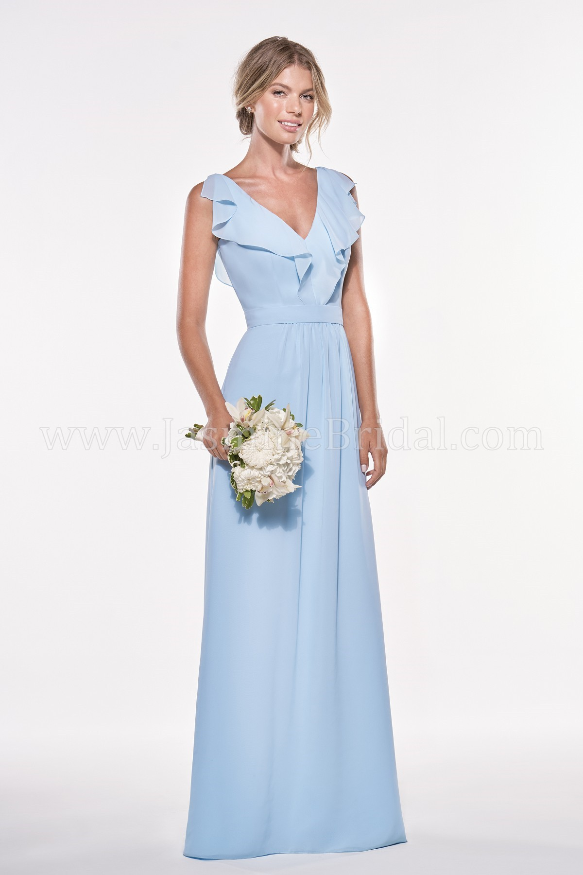 P196007 long v neck georgette bridesmaid dress ombrellifo Image collections