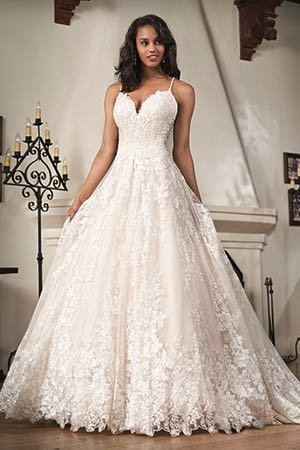 aab091c6245a8 T212062. T212062. Ivory/Gold embroidered lace wedding dress ...