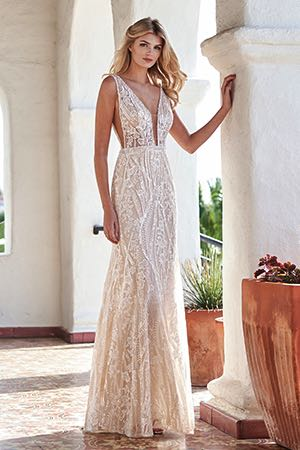 affc419c1 T212066. T212066. Ivory/Nude embroidered lace with sequins wedding ...