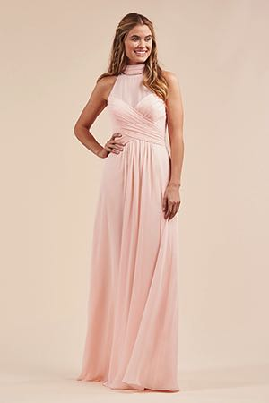 dc687b6b04fc B213051. B213051. Beautiful poly chiffon floor length bridesmaid dress ...