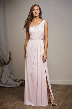 89d3d493ce958 L204001. L204001. Pretty poly chiffon one-shoulder bridesmaid dress ...