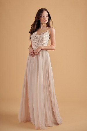 6007eb6ef84 L204056. L204056. Gorgeous soft tulle skirt and lace bodice bridesmaid dress  ...