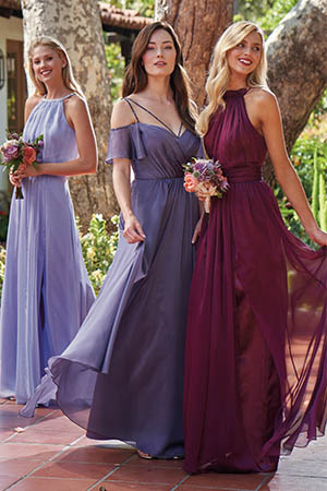 L214002. L214002. Beautiful Belsoie Tiffany Chiffon floor length bridesmaid  dress ... 849a3944a1bf