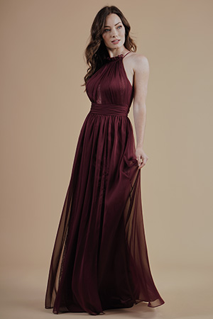 Brown and Ivory Bridesmaid Dresses