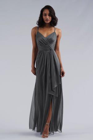 7c6def26887 L214052. L214052. Gorgeous belsoie tiffany chiffon floor length bridesmaid  dress ...