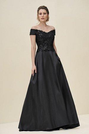 440a8a81cb J195065. Portrait neckline dress with ...