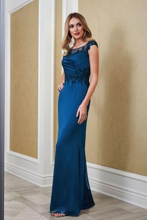 1324b81832 J215062. Beautiful jade tiffany chiffon and lace Mother of the Bride dress  ...