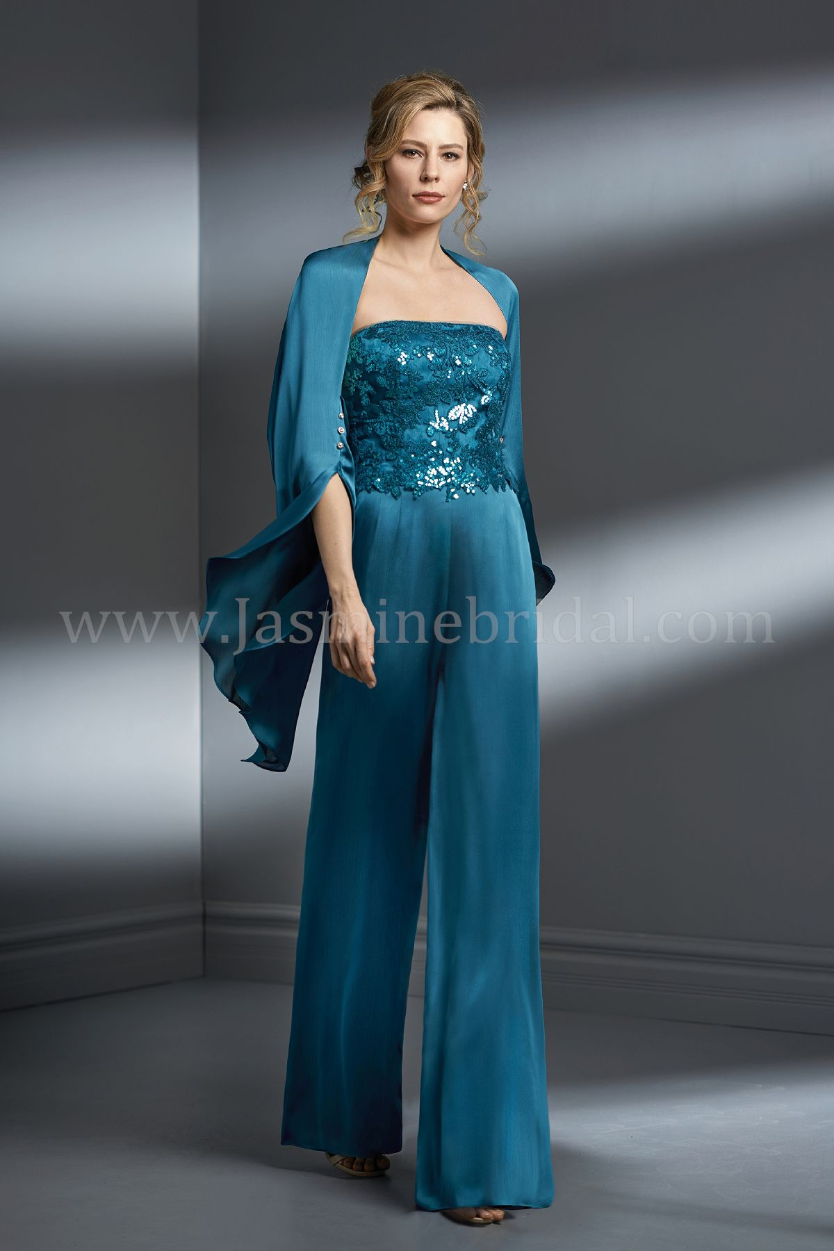K198067 Strapless Sequin Lace Amp Satin Face Chiffon Mob