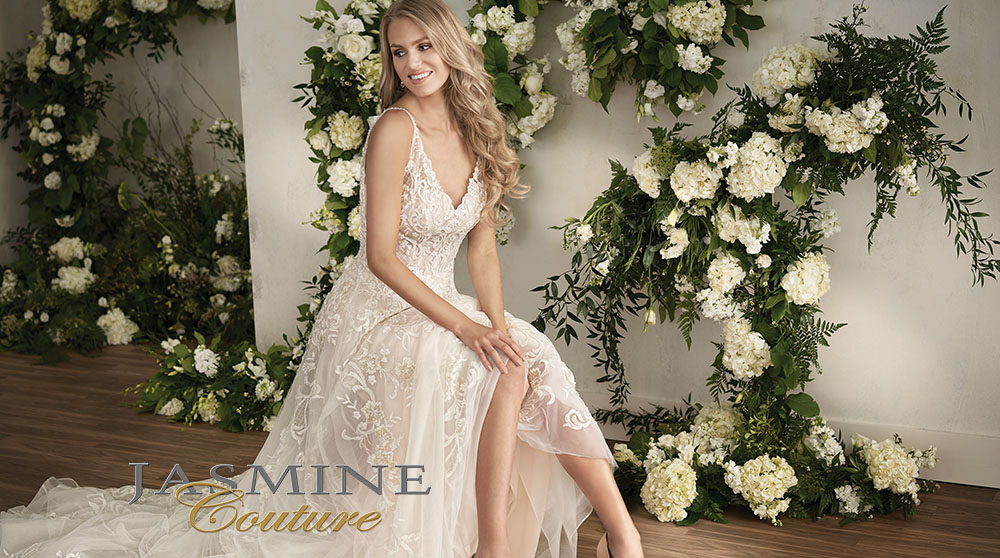 Sexy Wedding Dresses by Jasmine Bridal | Available in size 0-34!