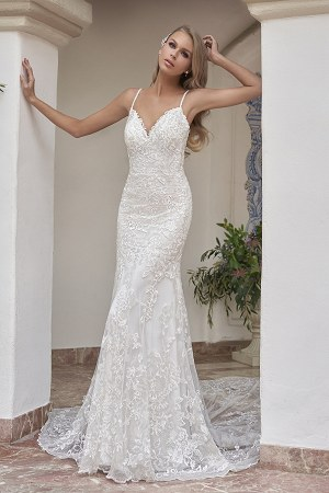 T202055 Wedding Dresses Embroidered Lace